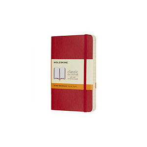 Moleskine Taccuino Classico Pocket, A righe, Copertina morbida, 9 x 14 cm, Rosso