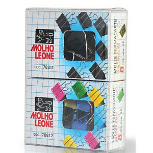 MOLHO LEONE Clip fermacarte a doppia clip, 25 mm, Colori assortiti