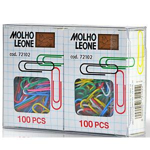 MOLHO LEONE Fermagli plastificati, 28 mm, Colori assortiti