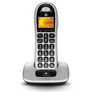 Motorola CD301 Teléfono inalámbrico, negro y gris