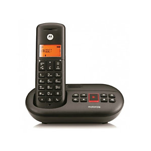 Motorola E211 Teléfono inalámbrico, negro