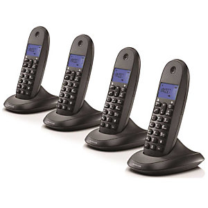Motorola Serie C10 Modelo C1004 Teléfono inalámbrico Negro