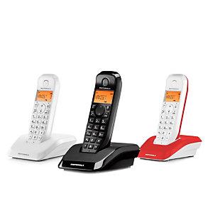 Motorola Startac S1203 Trio Teléfono inalámbrico Blanco, Negro, Rojo