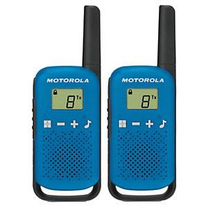 Motorola Talkabout T42 Walkie-talkies, pantalla LCD, hasta 4 km, azul y negro