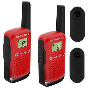 Motorola Talkabout T42 Walkie-talkies, pantalla LCD, hasta 4 km, rojo y negro