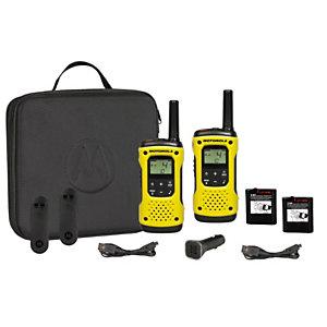 Motorola TLKR-T92 H2O Walkie-talkies, sumergibles, pantalla retroiluminada, hasta 10 km, amarillo y negro