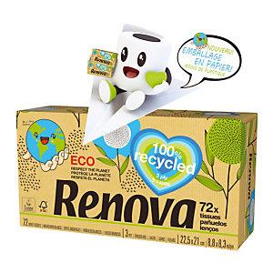 Mouchoirs Renova 100% recyclé, 30 boîtes de 72 mouchoirs