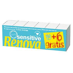 Mouchoirs Renova Sensitive, 24 etuis de 10 mouchoirs