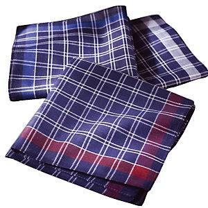 Mouchoirs en tissu, coloris assortis marine, lot de 12 mouchoirs