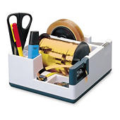 Multi-function ribbon and tape dispenser