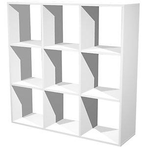 Multicolor Libreria componibile a 9 caselle, dimensioni 104,1 x 29,2 x 103,9 cm, colore Bianco