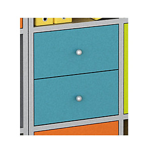 Multicolor Set 2 Cassetti e Retro, dimensioni 24 x 24 x 8,5 cm, Azzurro