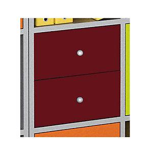 Multicolor Set 2 Cassetti e Retro, dimensioni 24 x 24 x 8,5 cm, Prugna