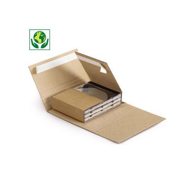 Etui-croix Médiabox à fermeture adhésive##Multimedia kruiswikkelverpakking met zelfklevende sluiting