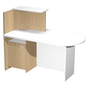Multitask Postazione bancone destro, Rovere e Bianco, 142,5 x 83 x 117,2 cm