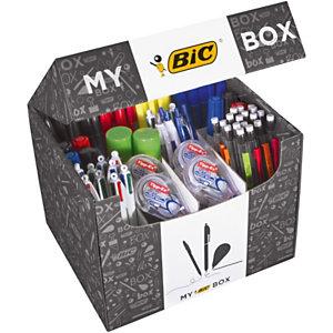 My BIC® Box 124 prodotti di cancelleria e scrittura BIC: penne, evidenziatori, matite, correttori, colla, marcatori indelebili e da lavagna