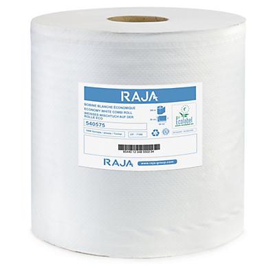 Mykt, hvitt tørkepapir på rull