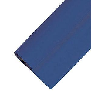 Nappe en papier damassé en rouleau de 1,18 x 25 m, coloris bleu vif