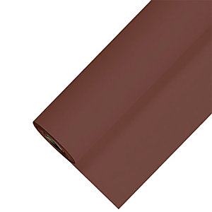 Nappe en papier damassé en rouleau de 1,18 x 25 m, coloris chocolat