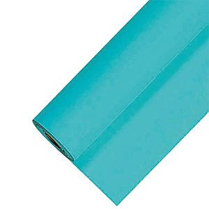 Nappe en papier damassé en rouleau de 1,18 x 25 m, coloris turquoise