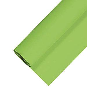 Nappe en papier damassé en rouleau de 1,18 x 25 m, coloris vert pomme