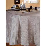 Nappe tissu Taffetas plissé argent, rectangulaire 1,50 x 2,50 m