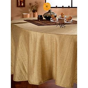 Nappe tissu Taffetas plissé or, rectangulaire 1,50 x 3,00 m