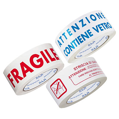 Nastro adesivo di spedizione in polipropilene silenzioso bianco RAJA