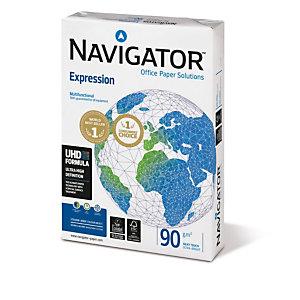 NAVIGATOR 5 Ram Expression Papier pour Photocopies Recyclé pour Jet d'encre et Laser A4 Blanc  90 g/m² 500 Feuilles