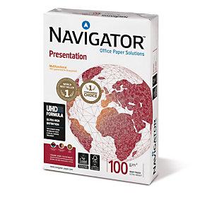 NAVIGATOR 5 ram Presentation Papier Multi-Usage pour Jet d'encre et Laser A4 Blanc  100 g/m² 500 Feuilles