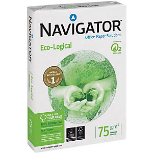 Navigator Eco-Logical Papel Multifunción para Faxes, Fotocopiadoras, Impresoras Láser e Impresoras de Inyección de Tinta Blanco A4 75 g/m² 500 hojas