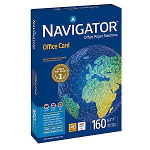 Navigator Office Card Carta multiuso A3 per Stampanti Laser e Inkjet, 160 g/m², Bianco (confezione 250 fogli)