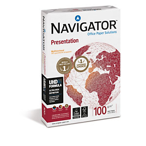 Navigator Presentation Papel Multifunción para Faxes, Fotocopiadoras, Impresoras Láser e Impresoras de Inyección de Tinta Blanco A4 100 g/m²<BR>
