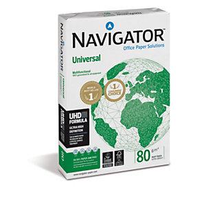 Navigator Universal Papel Multifunción para Faxes, Fotocopiadoras, Impresoras Láser e Impresoras de Inyección de Tinta Blanco A3 80 g/m²<BR>