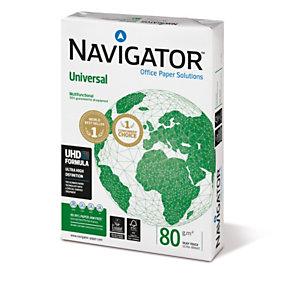 Navigator Universal Papel Multifunción para Faxes, Fotocopiadoras, Impresoras Láser e Impresoras de Inyección de Tinta Blanco A4 80 g/m² Caja 5 paquetes