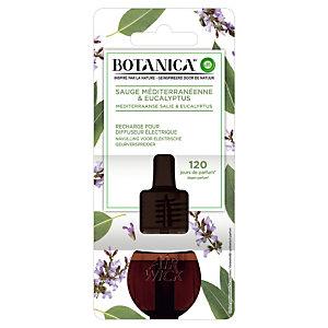 Navulling voor parfumverspreider Botanica, eucalyptus en salie parfum, flesje van 19 ml