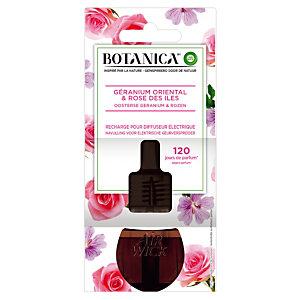 Navulling voor parfumverspreider Botanica, roos en geranium parfum, flesje van 19 ml