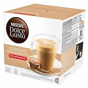 Nescafé Dolce Gusto Café Cortado Espresso Macchiato Descafeinado Cápsulas de café, 16 dosis, 99,2 g