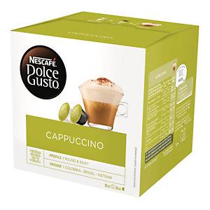 Nescafé Dolce Gusto Cappuccino Cápsulas de café y leche, 8 dosis, 186,4 g