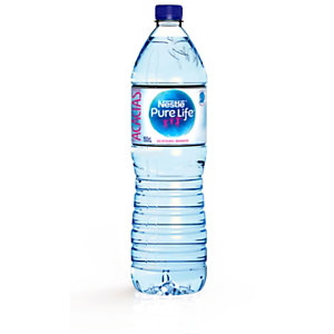 Nestlé Aquarel agua de manantial natural, botella PET, 1,5 l