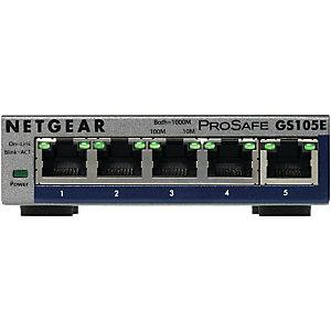 Netgear GS105E-200PES, Géré, L2/L3, Gigabit Ethernet (10/100/1000), Full duplex