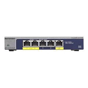 Netgear GS105PE, No administrado, L2, Gigabit Ethernet (10/100/1000), Bidireccional completo (Full duplex), Energía sobre Ethernet (PoE) GS105PE-10000S