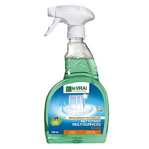 Nettoyant HACCP pour vitres et surfaces Le Vrai, le pulvérisateur de 750 ml