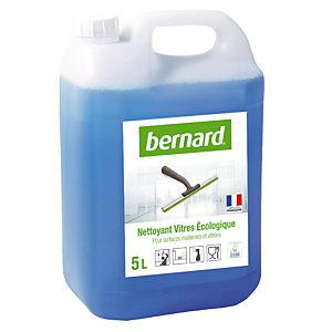 Nettoyant professionnel écologique pour vitres et surfaces Bernard, bidon de 5L.