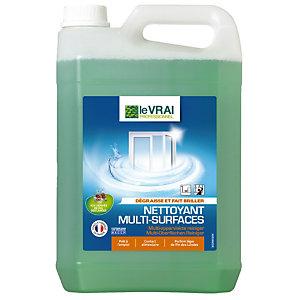 Nettoyant professionnel HACCP pour vitres et surfaces Le Vrai, le bidon de 5 L