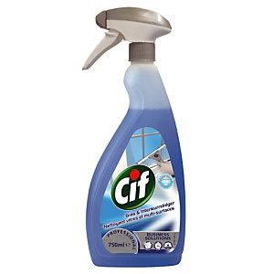 Nettoyant professionnel pour vitres et surfaces Cif, vaporisateur de 750 ml.