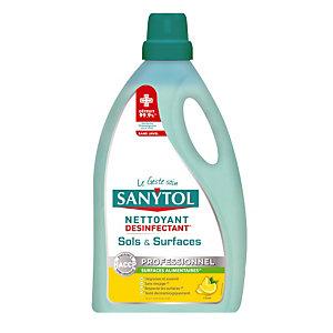 Nettoyant désinfectant sols et surfaces Sanytol parfum citron, bidon de 5 L