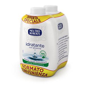 NEUTRO ROBERTS Ricarica per Sapone Liquido Idratante con glicerina, 2 Flaconi da 200 ml (confezione 2 pezzi)