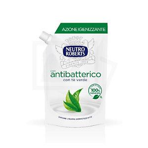 NEUTRO ROBERTS Sapone Liquido Antibatterico con Tè Verde, Ecoricarica 400 ml