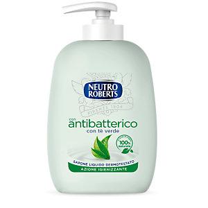 NEUTRO ROBERTS Sapone Liquido Antibatterico Delicato al Tè Verde, Flacone con erogatore 200 ml
